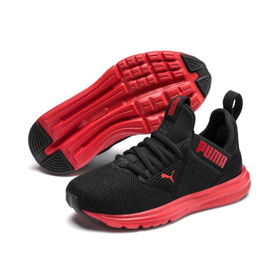 Puma Kids Enzo Beta AC PS - Puma Black/High Risk Red SP-Footwear-KidsBoys Puma