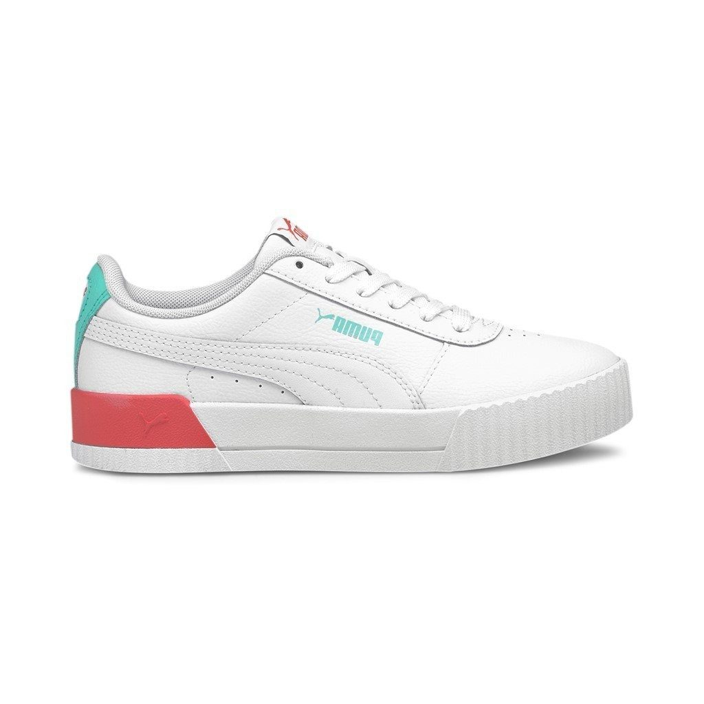 Puma Kids Carina L Jr - Puma White/Sun Kissed Coral SP-Footwear-Kids Puma