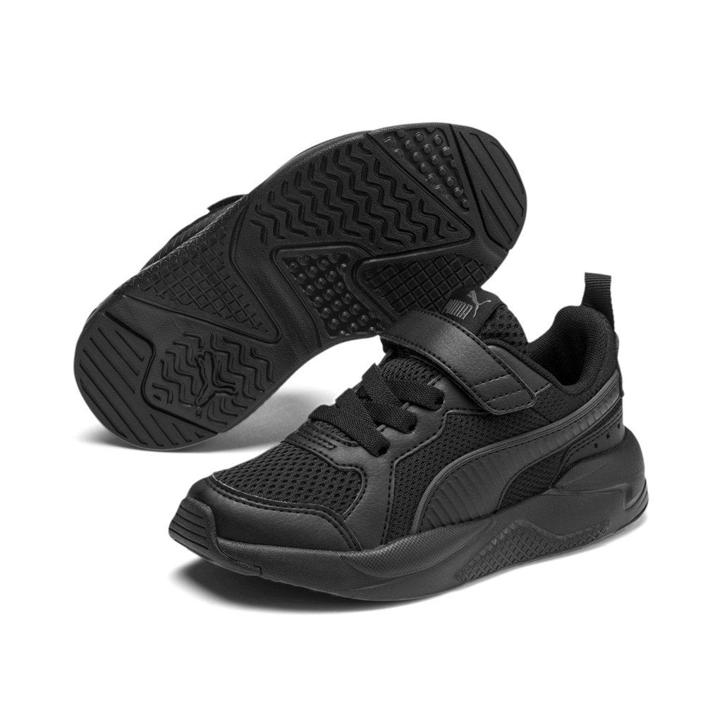 Puma Kids X-Ray AC Pre School - Black/Black SP-Footwear-Kids Puma