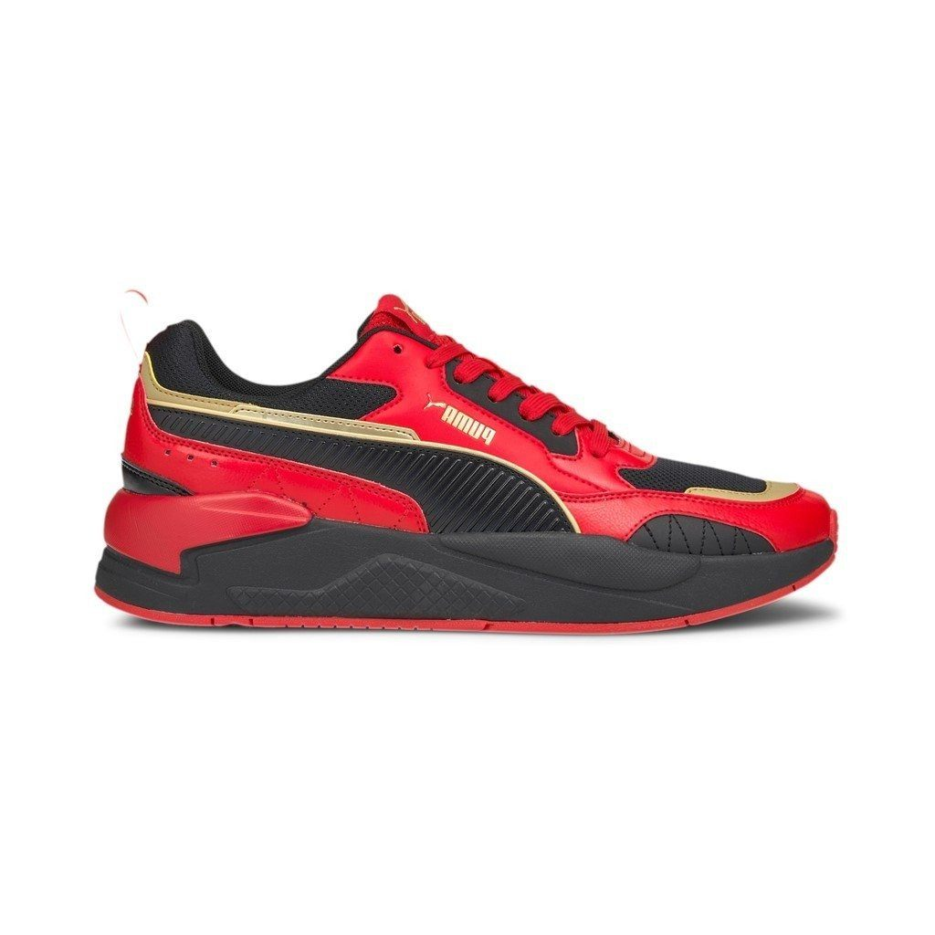 Puma Mens X-Ray 2 Square - Red/ Black/Puma Team Gold SP-Footwear-Mens Puma