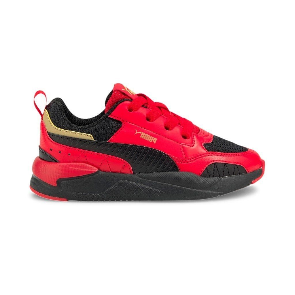Puma Kids X-Ray 2 Square AC PS - High Risk Red/Black/ Gold SP-Footwear-Kids Puma