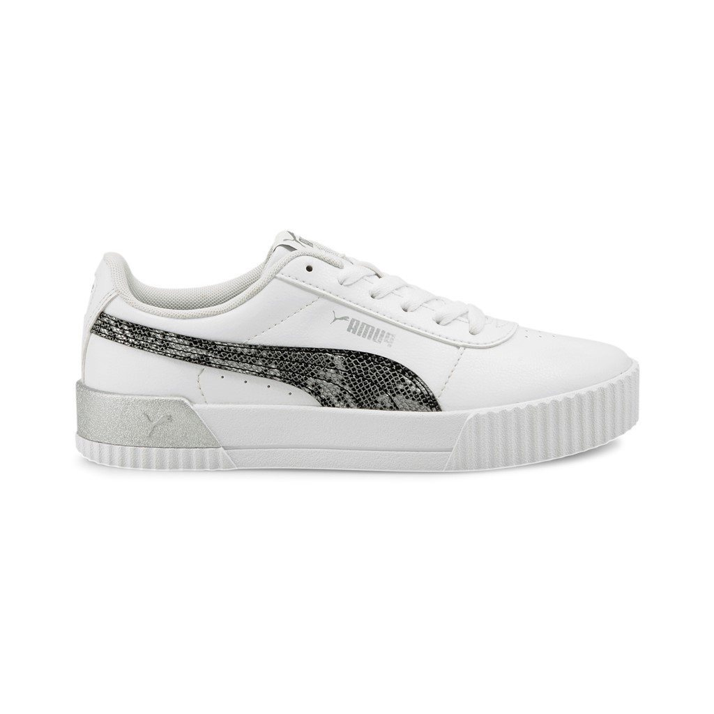 Puma Womens Carina Untamed - White/Metallic SP-Footwear-Womens Puma
