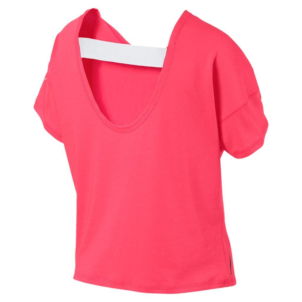 Puma Womens HIT Feel It Tee - Pink Alert SP-ApparelTees-Womens Puma