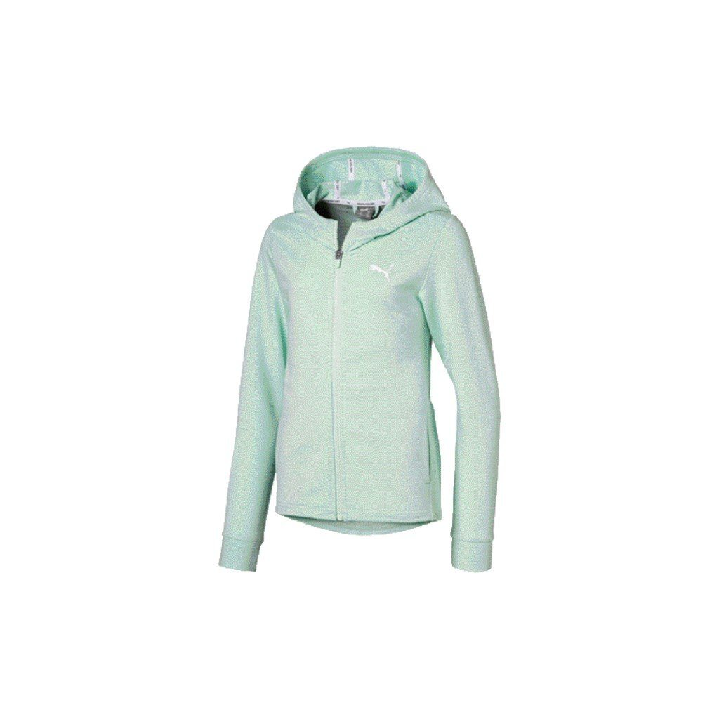 Puma Girls Modern Sports Jacket - Mist Green SP-ApparelFleece-Kids Puma