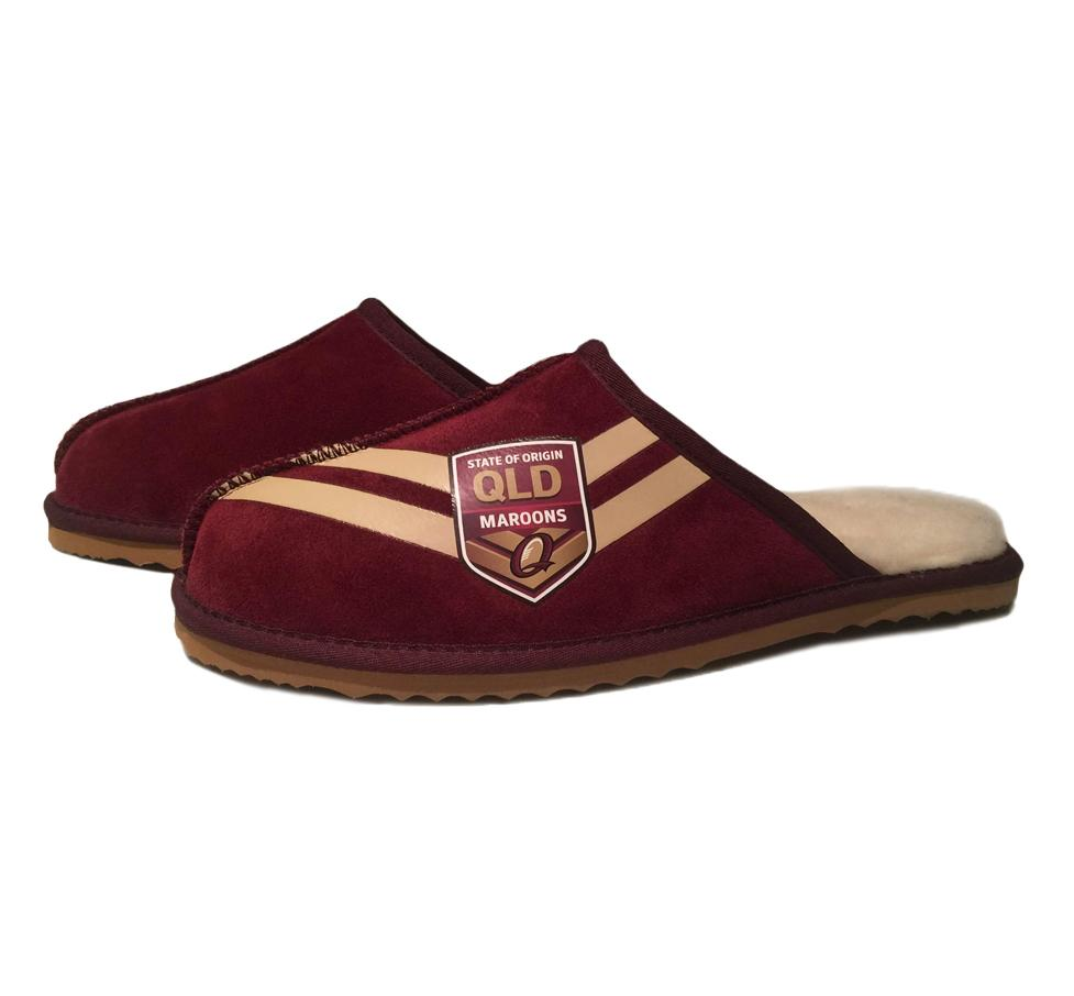NRL Adults Slippers - State of Origin QLD Maroons Footwear Team Uggs