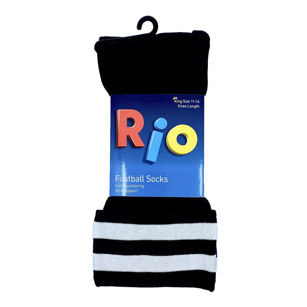 Rio Football Socks - Black SP-ApparelSocks-Unisex Rio