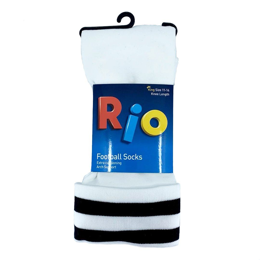 Rio Football Socks - White SP-ApparelSocks-Unisex Rio