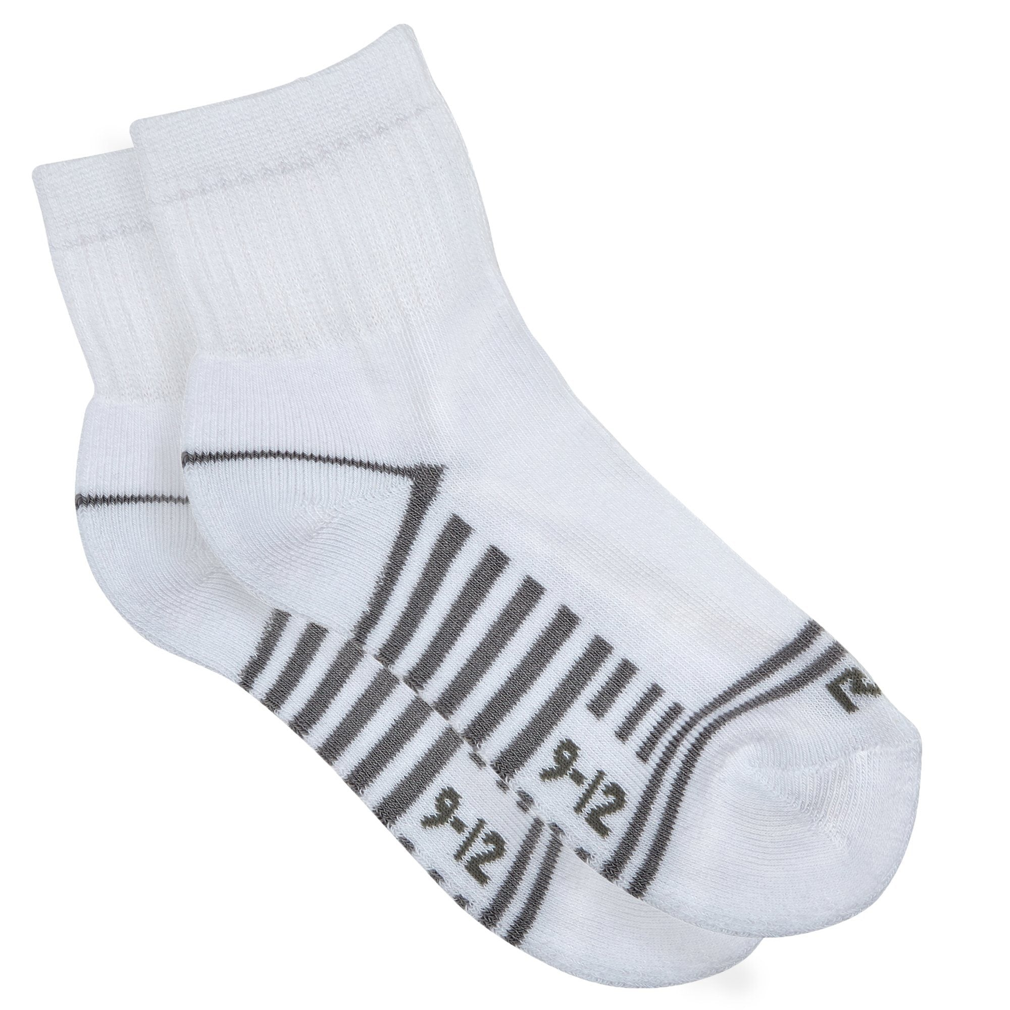 Rio Kids 5 Pack Quarter Crew Socks - White Accessories Rio