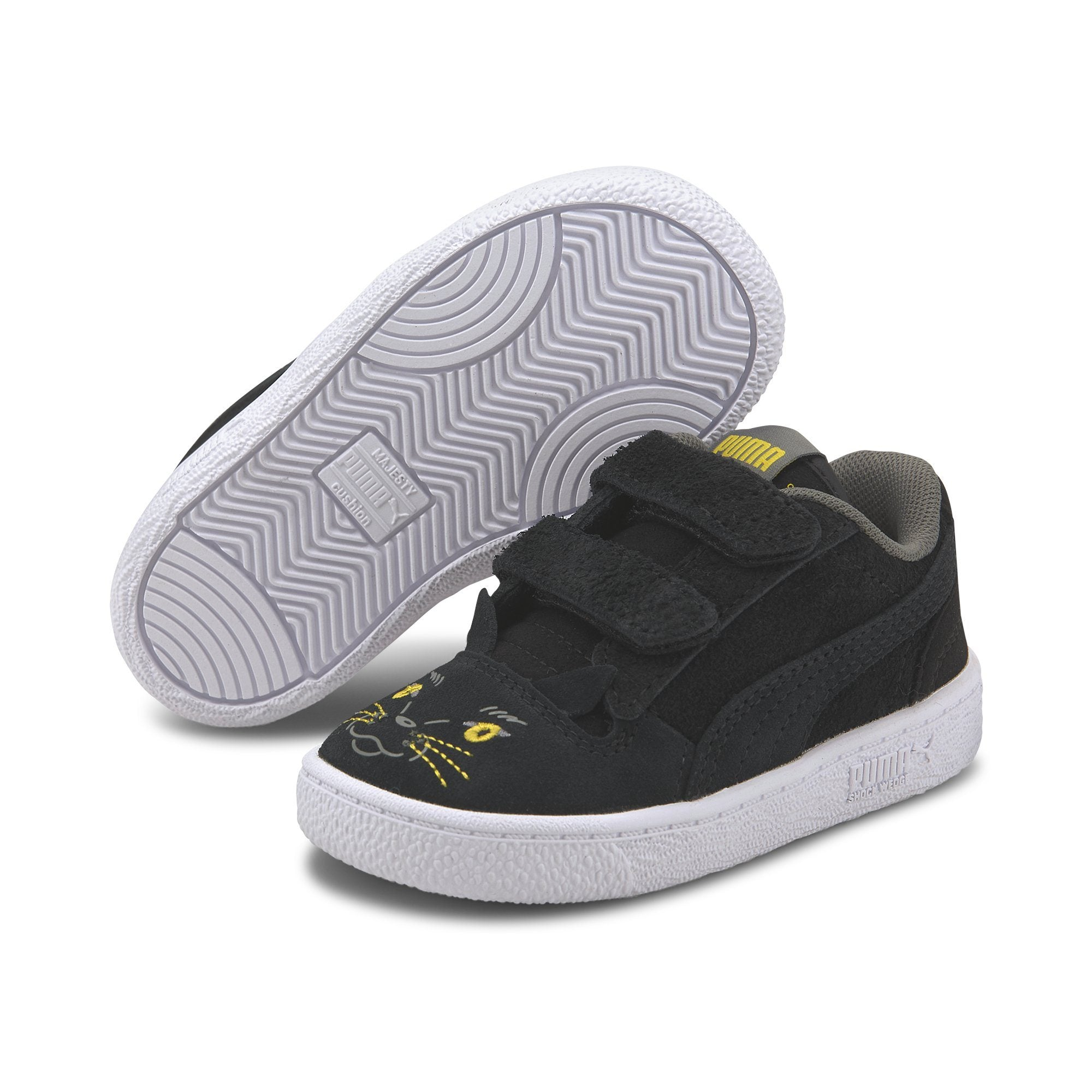 Puma Ralph Sampson Animals Velcro Inf - Puma Black-Super Lemon SP-Footwear-Kids Puma