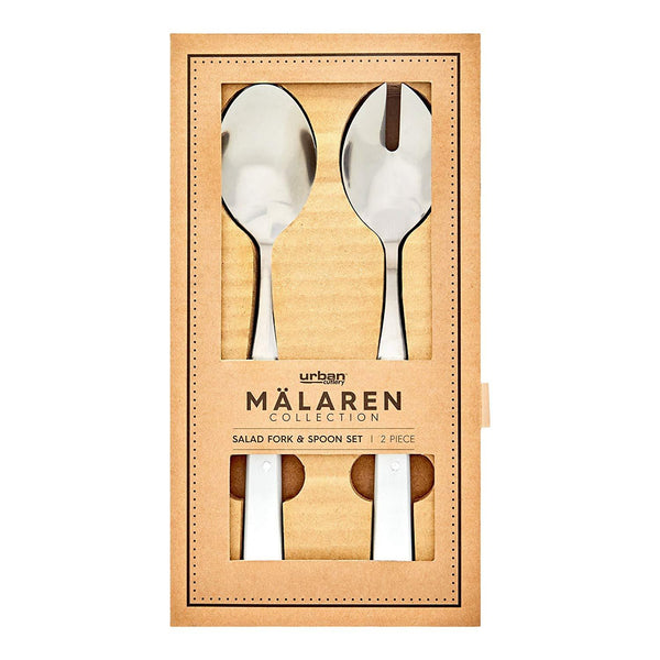 Malaren 2p Salad Servers - White Kitchenware Isbister & Co Wholesale