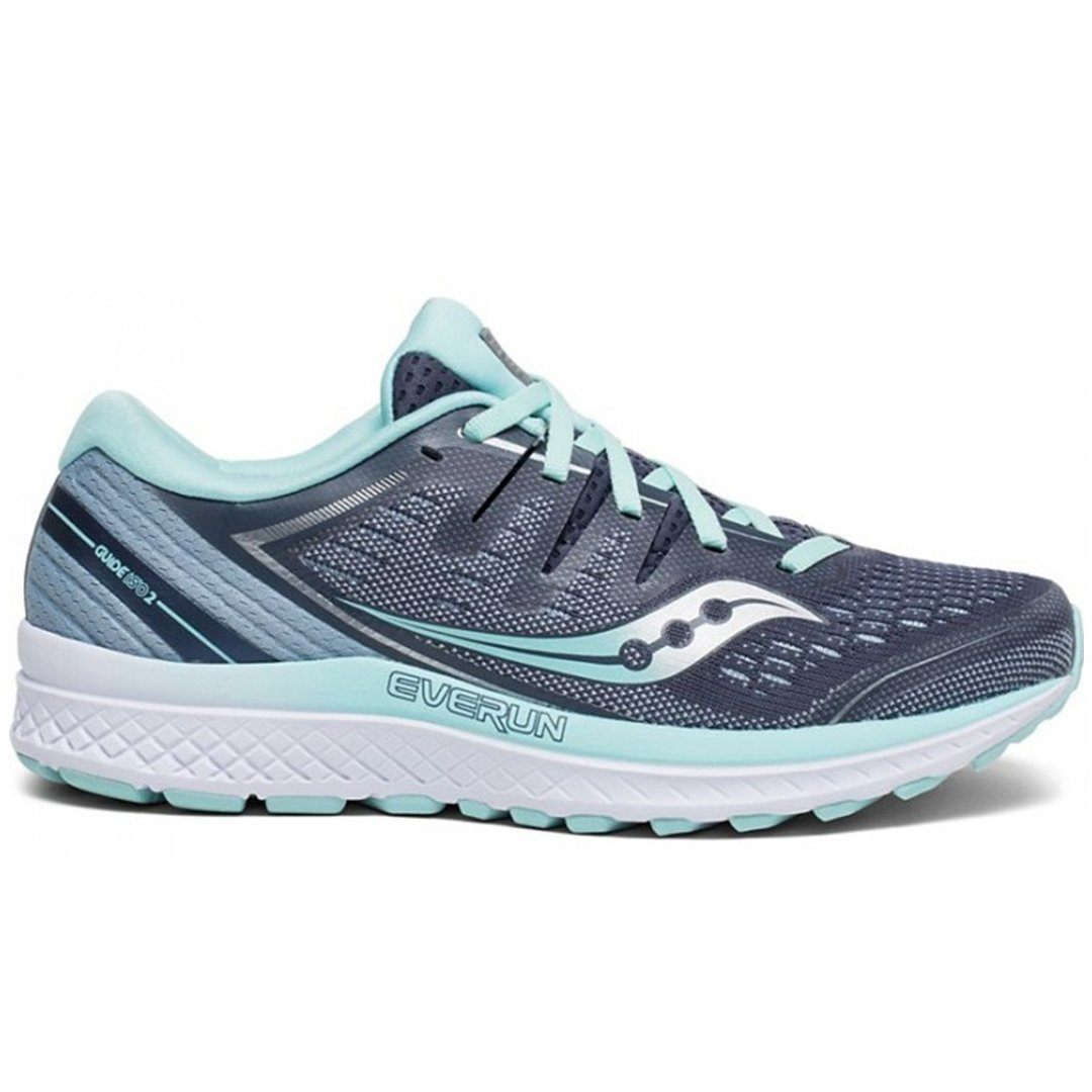Saucony Women's Guide ISO 2 D Wide Fit - Slate/Aqua SP-Footwear-Womens Saucony