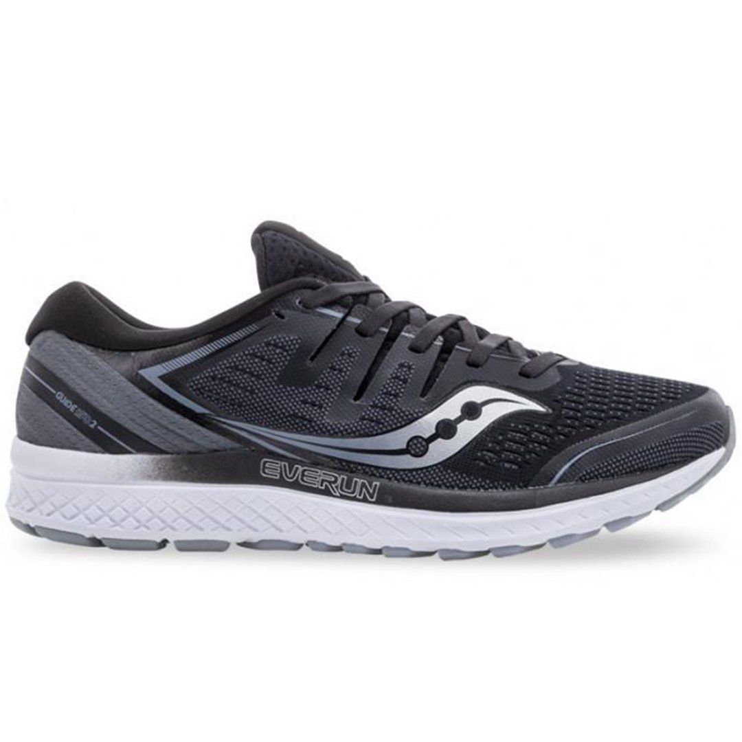 Saucony Men's Guide Iso 2 - Grey/Black SP-Footwear-Mens Saucony