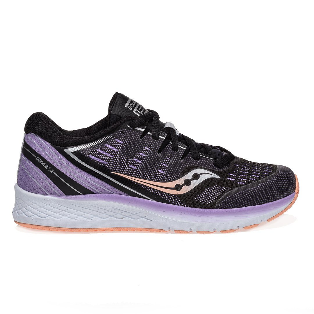Saucony Kids S-Guide Iso 2 - Black/Purple SP-Footwear-KidsGirls Saucony