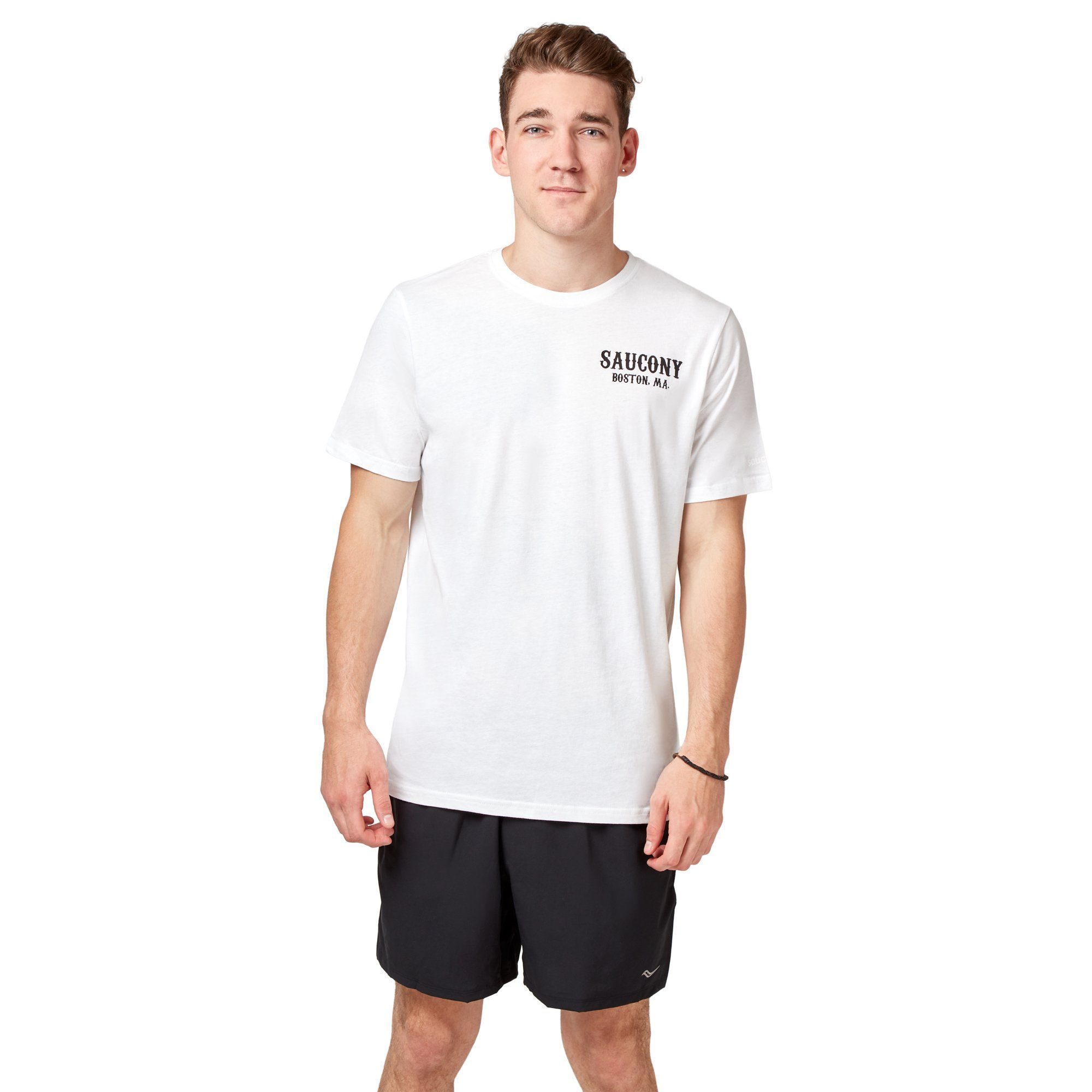 Saucony Boston MA Tee - White Apparel Saucony