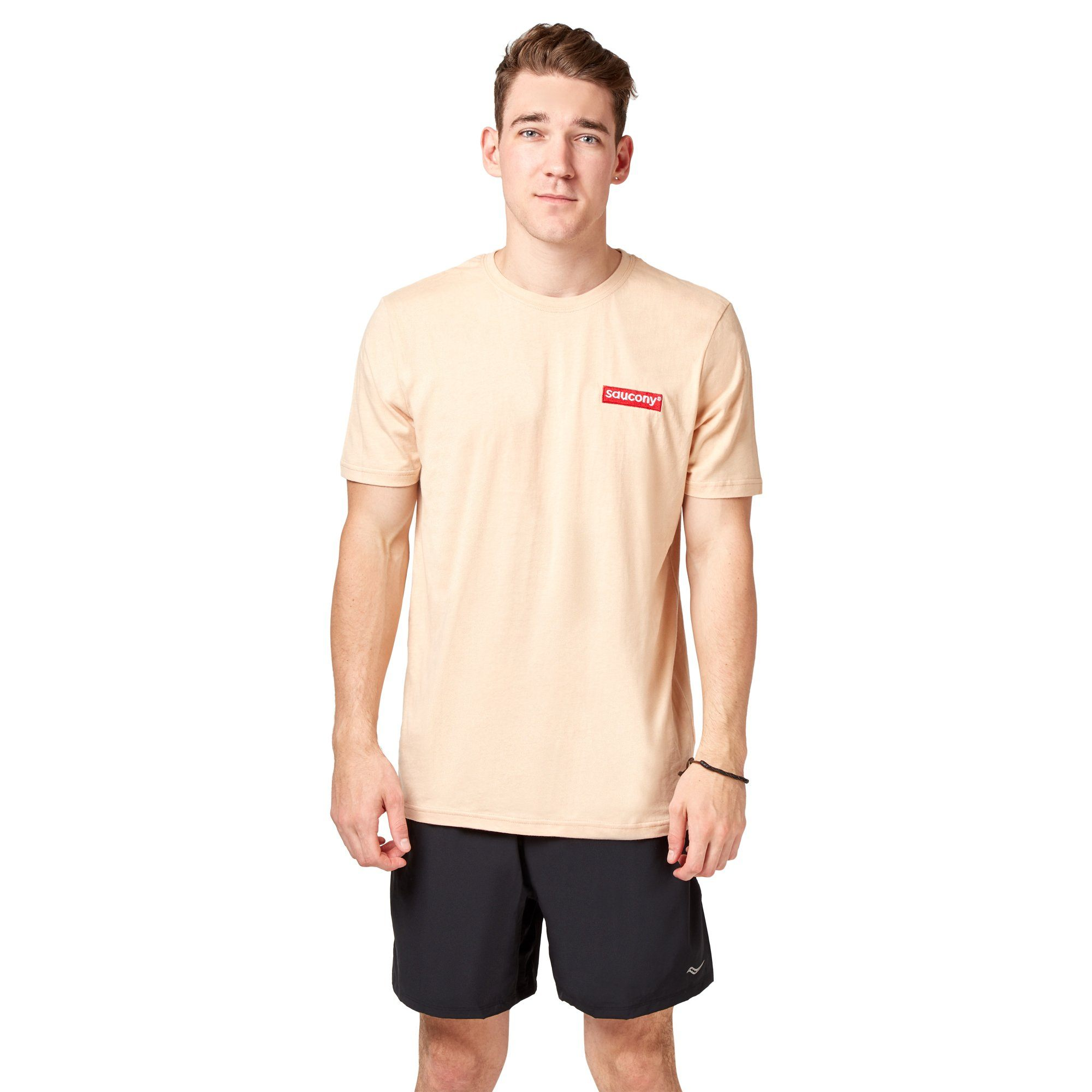 Saucony Block Embroidered Tee - Hazelnut Apparel Saucony