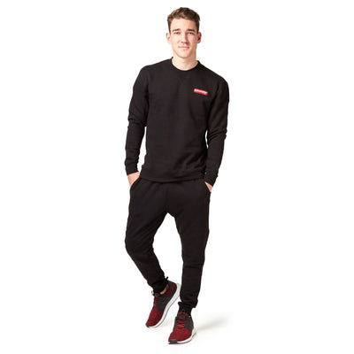 Saucony Badge Crew Sweat - Black Apparel Saucony