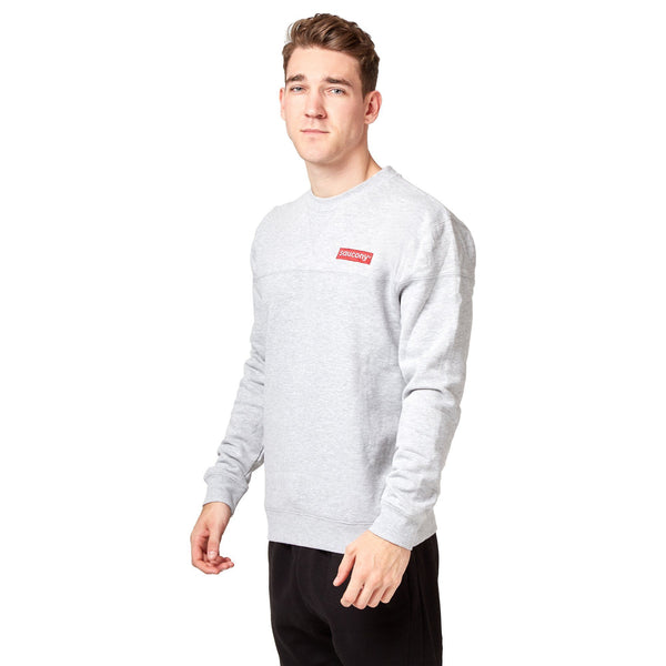 Saucony Badge Crew Sweat - Grey Apparel Saucony