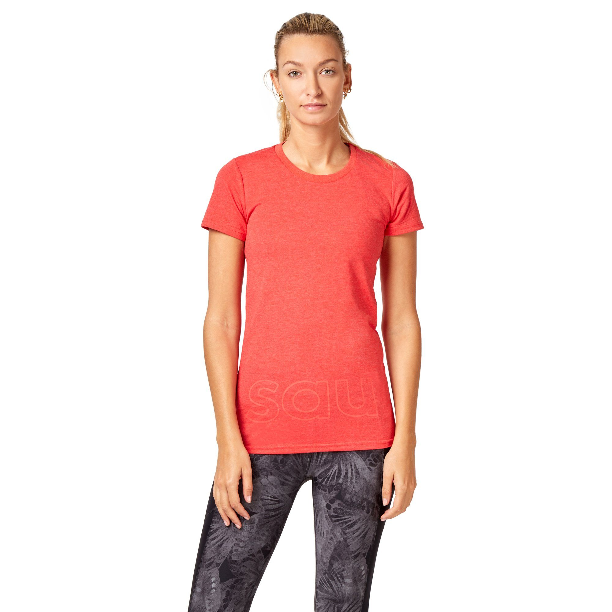 Saucony Band Logo Tee - Flame Scarlet Apparel Saucony