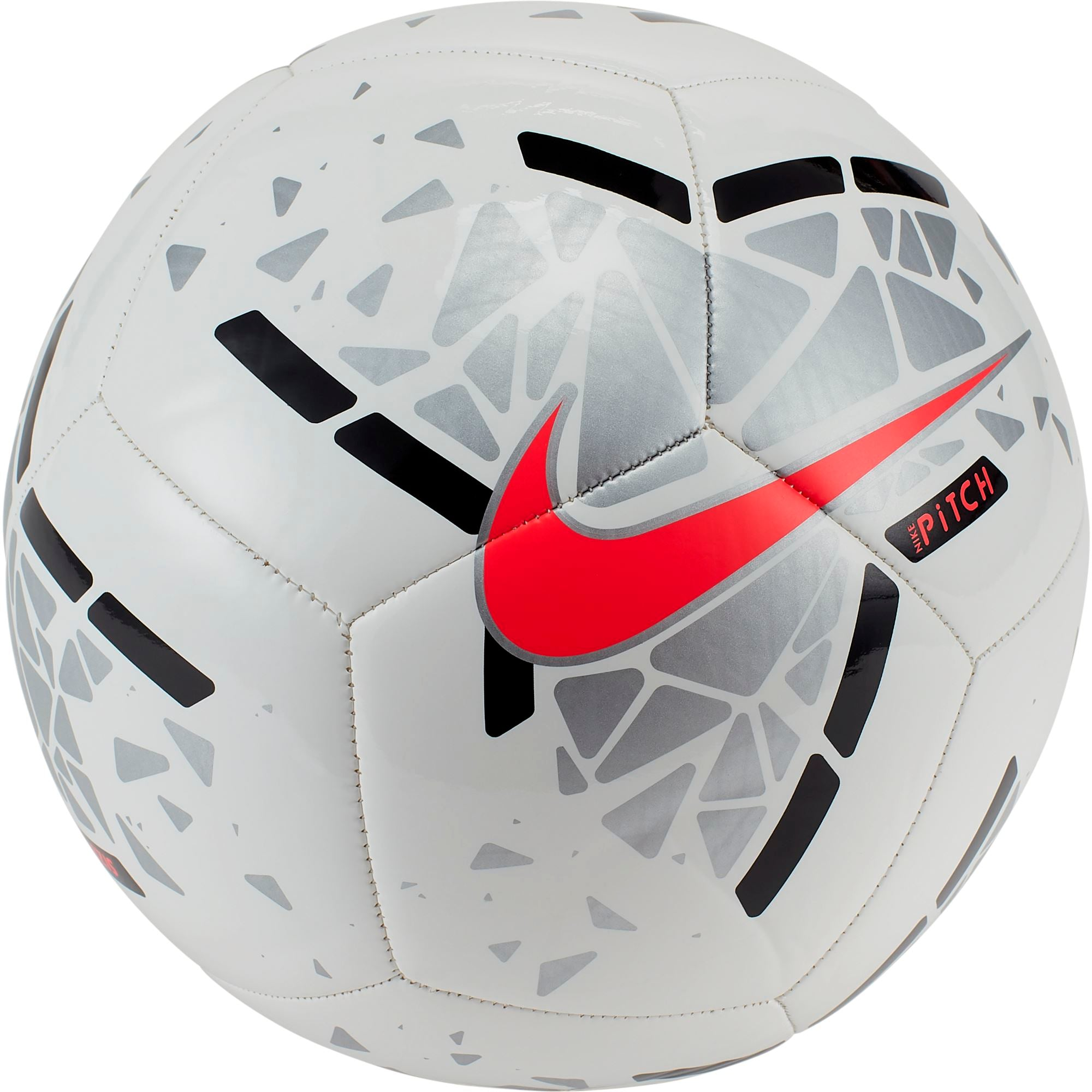 Nike Pitch Soccer Ball - White/Metallic Silver/Laser Crimson SP-Balls-Soccer Nike