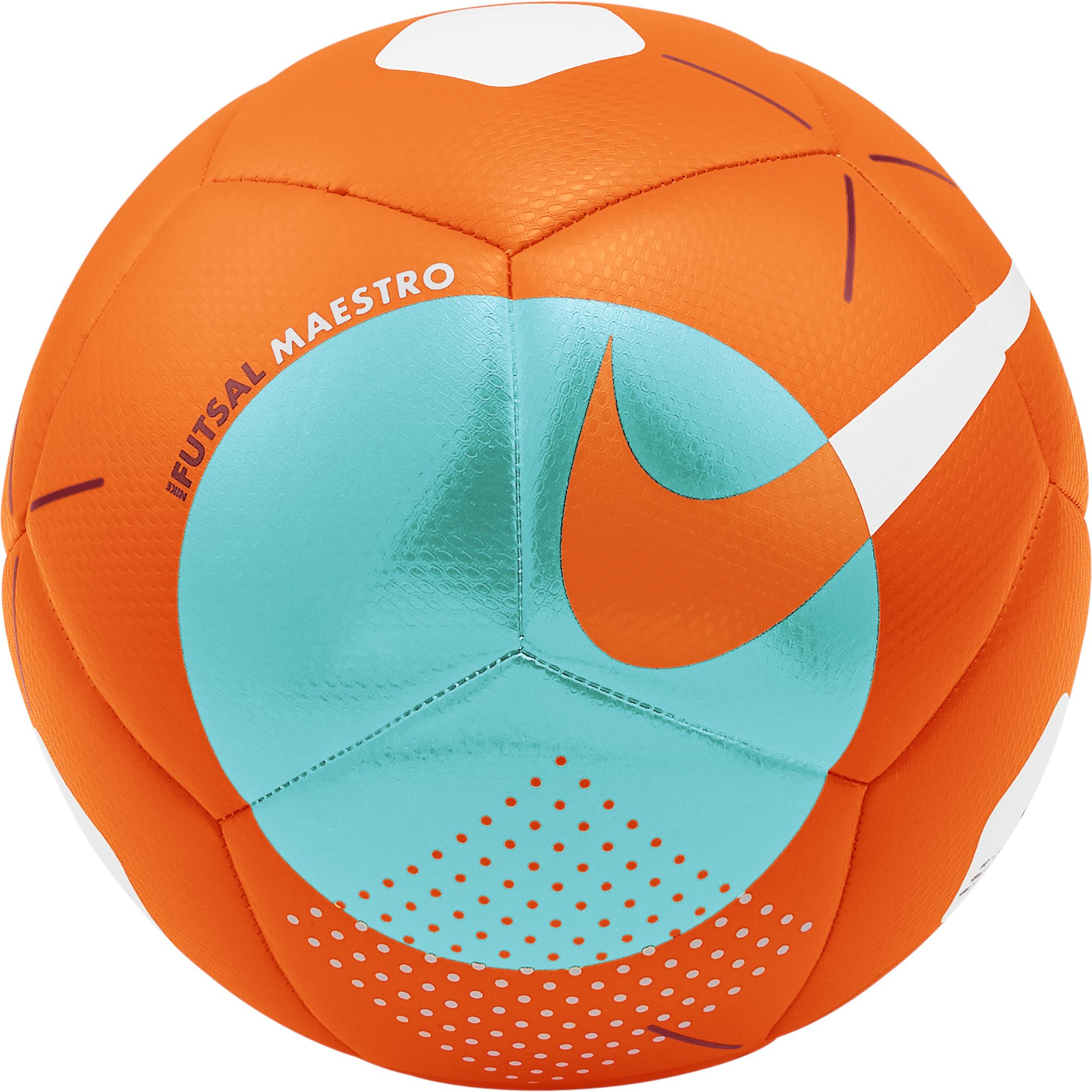 Nike Futsal Maestro Soccer Ball - Total Orange/Aurora Green/Sierra Red Nike