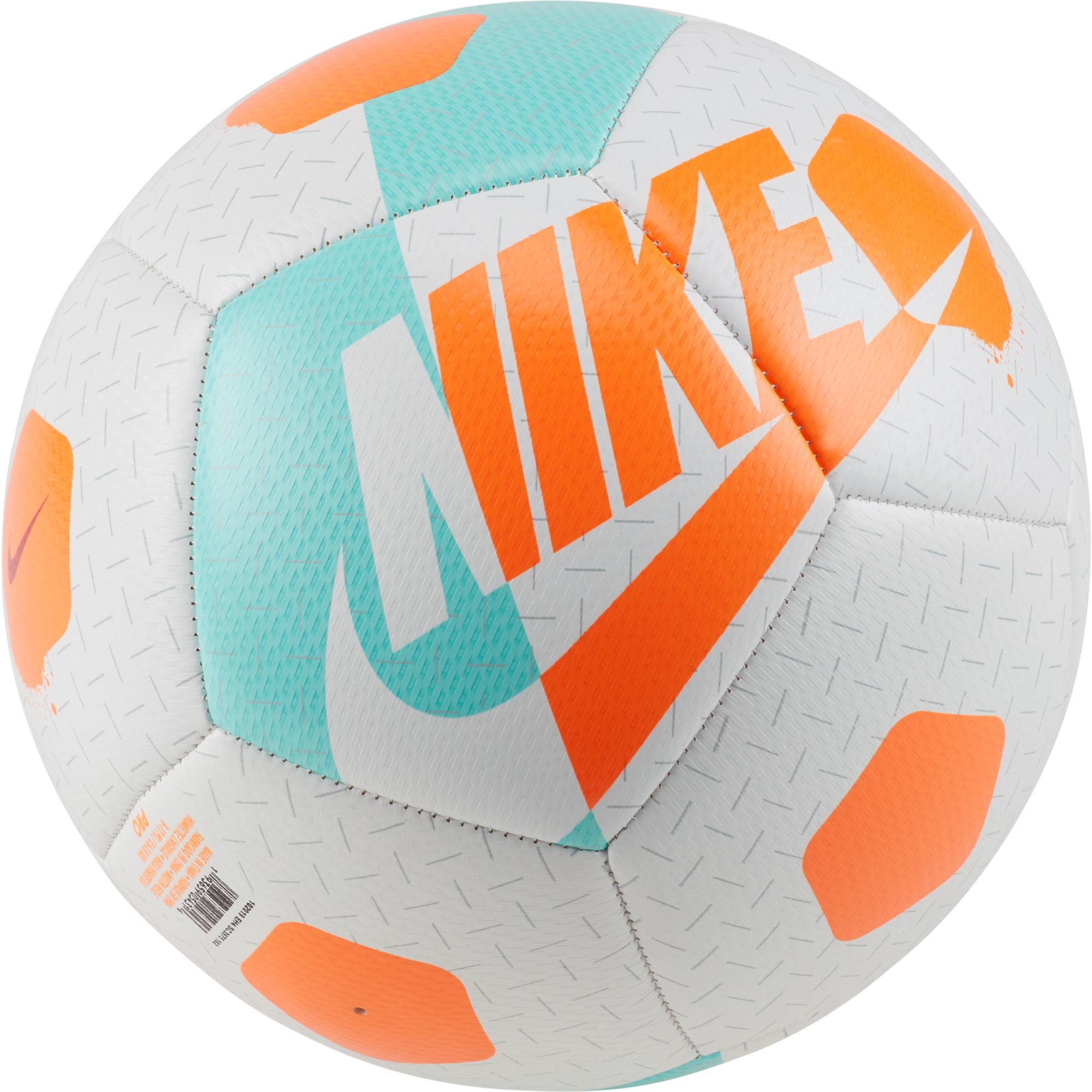 Nike Street Akka Soccer Ball - White/Aurora Green/Total Orange SP-Balls-Soccer Nike