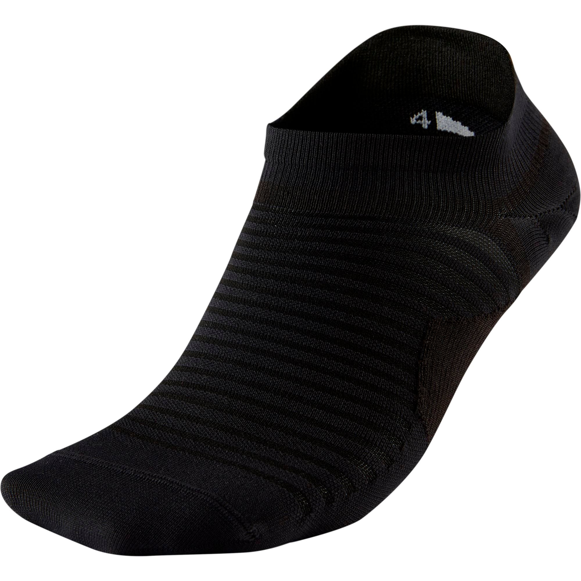 Nike Adults Spark Lightweight No-Show Running Socks - Black/Reflective SP-ApparelSocks-Unisex Nike
