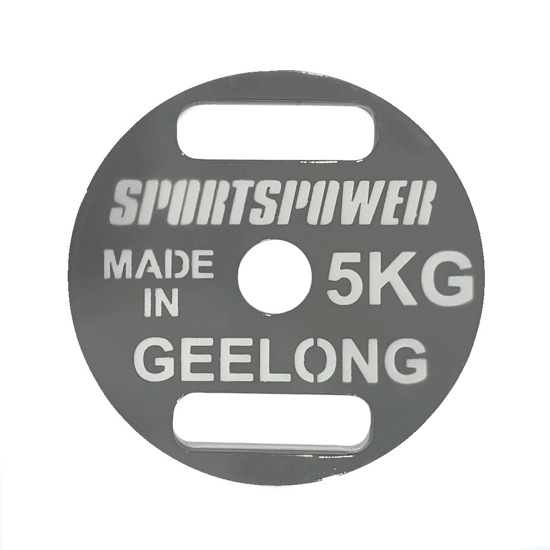 5KG Steel Weight Plates - MADE IN GEELONG by GEELONG people for Australians SP-Accessories-Weights SportsPower Geelong