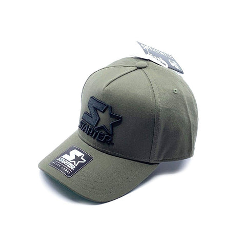 Starter Black Label 5-Panel Throwback Snapback - Olive SP-Headwear-Caps Starter Black Label