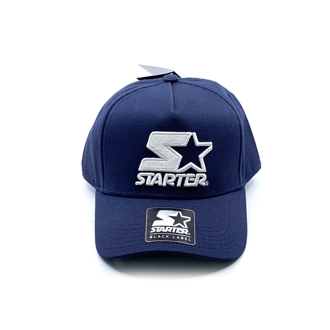 Starter Black Label 5-Panel Throwback Snapback - Navy SP-Headwear-Caps Starter Black Label