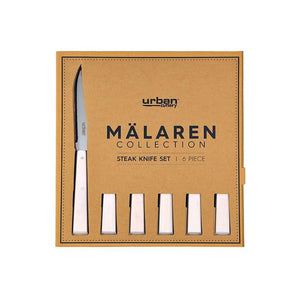 Malaren 6p Steak Knife Set - White Kitchenware Isbister & Co Wholesale