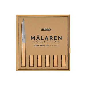 Malaren Steak Knife Set of 6 - Wood Kitchenware Isbister & Co Wholesale
