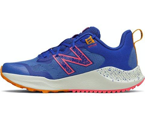 New Balance Kid's Nitrel v4 Running Shoe - Blue/Pink SP-Footwear-Kids New Balance