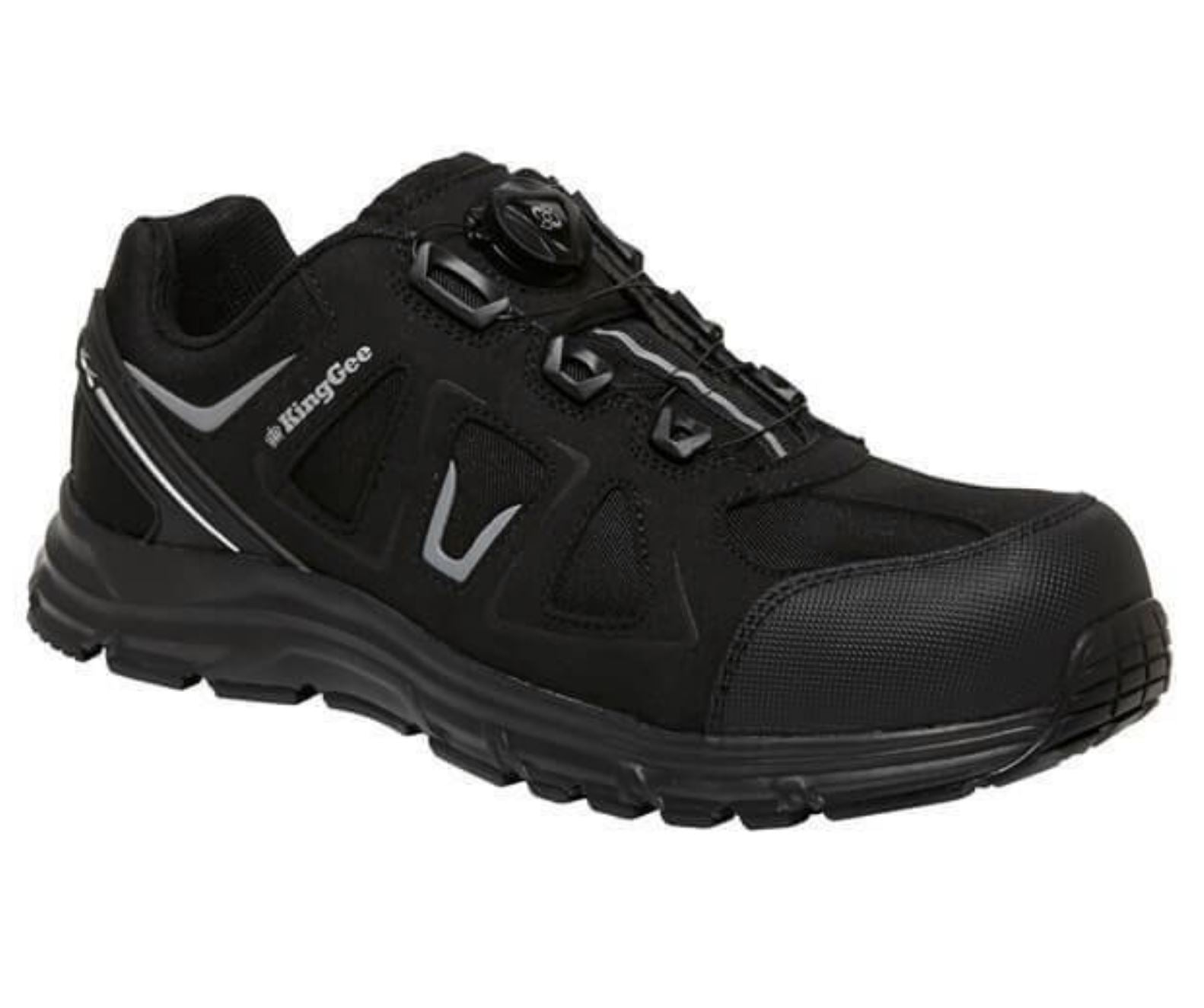 King Gee Comp-Tec BOA Work Shoes - Black Workwear King Gee
