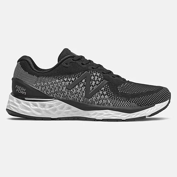 New Balance Mens Fresh Foam 880v10 - Black with White SP-Footwear-Mens New Balance