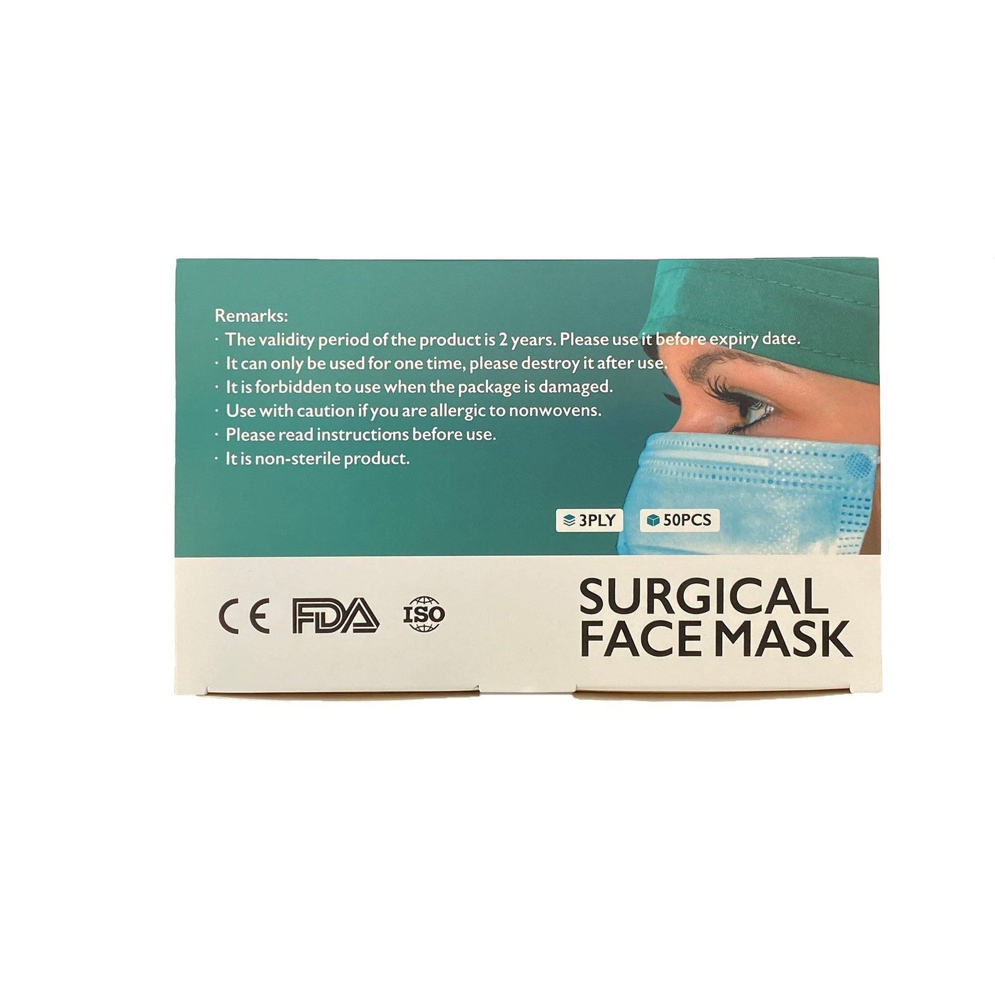 Surgical Face Masks ASTM 1 - Box of 50 Covid19 SportsPower Geelong