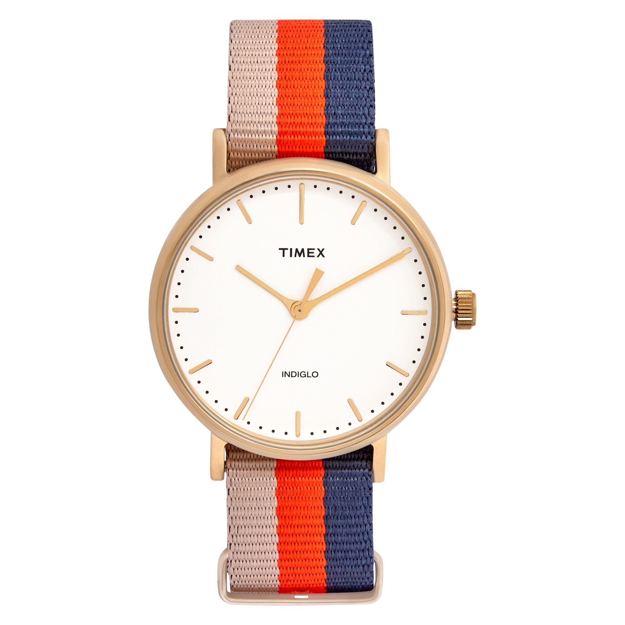 Timex Weekender Fairfield 37mm Mid Gold Watches Isbister & Co Wholesale