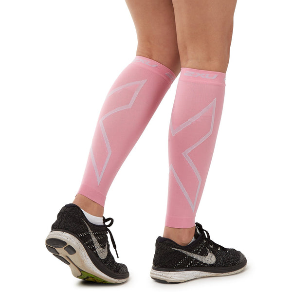 2XU Compression Calf Sleeves - Pink Accessories 2XU