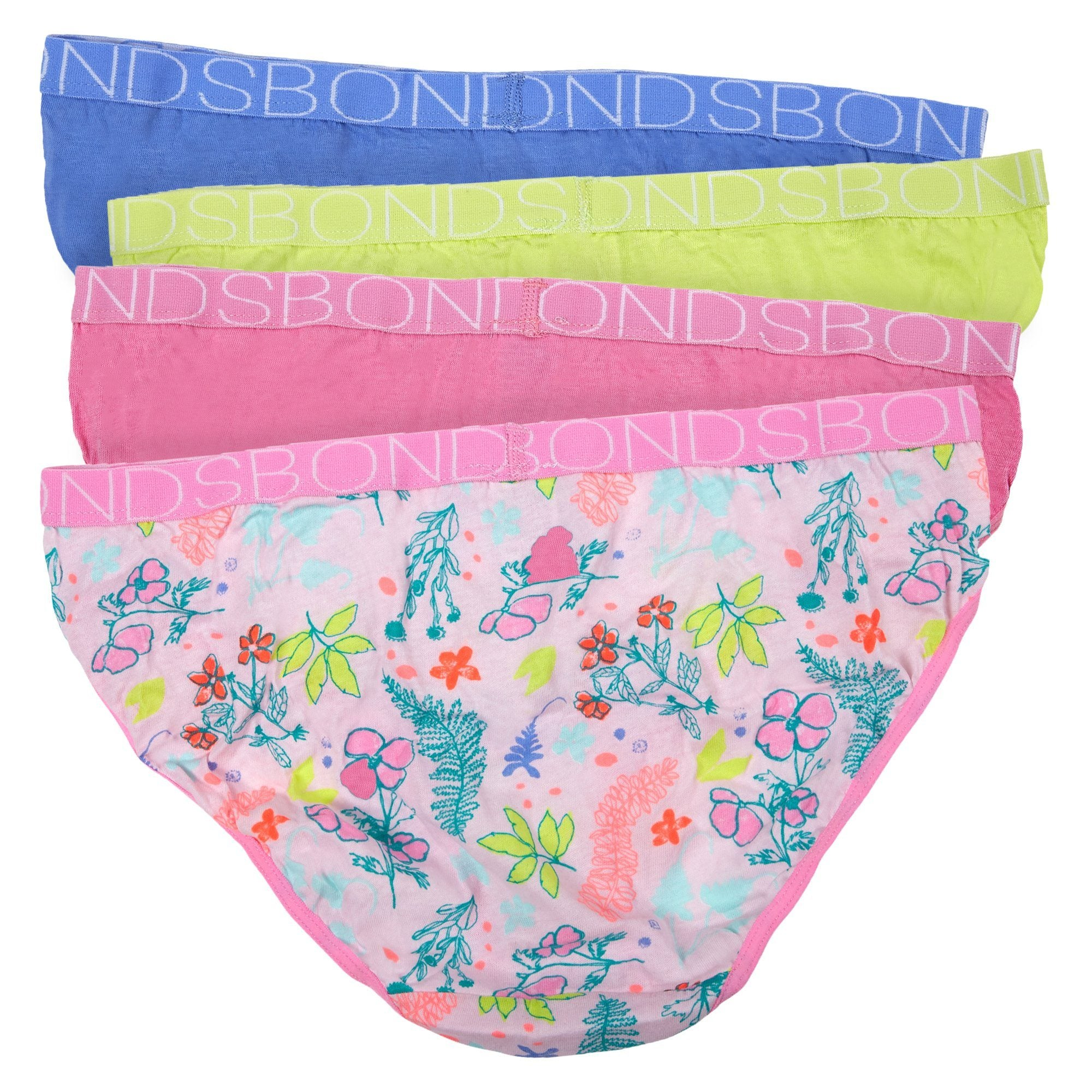 Bonds Children'S Underwear 4 Pack Bikini Pln - Print 75 Children's Underwear Bonds