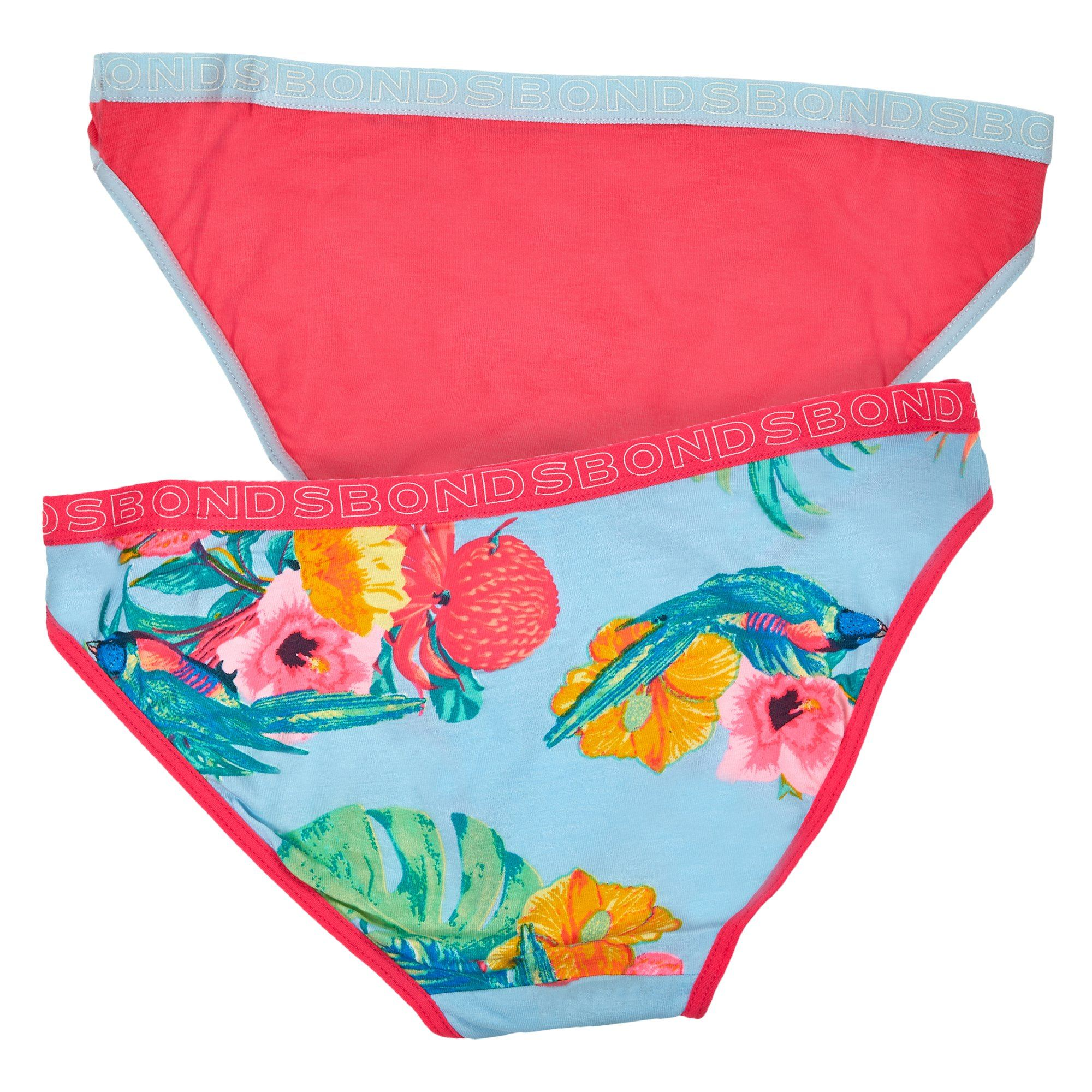 Bonds Children'S Underwear 2Pk Bikini Ydg/Pln - Print 5El Children's Underwear Bonds