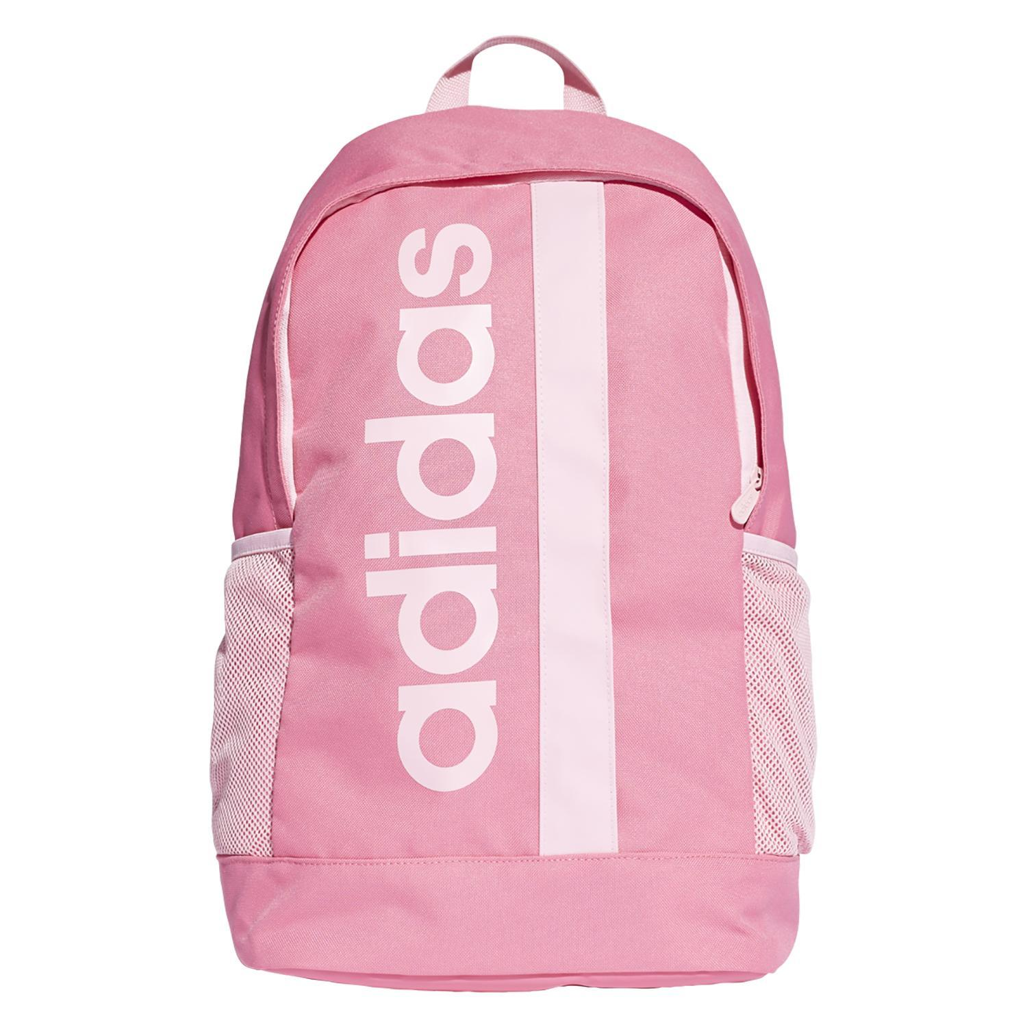 Linear Core Backpack - Semi Solar Pink/True Pink/True Pink SP-Accessories-Bags Adidas
