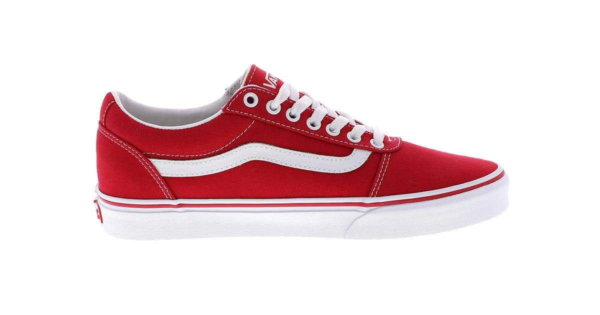 Vans Ward (Canvas) - Racing Red/White SP-Footwear-Mens Vans