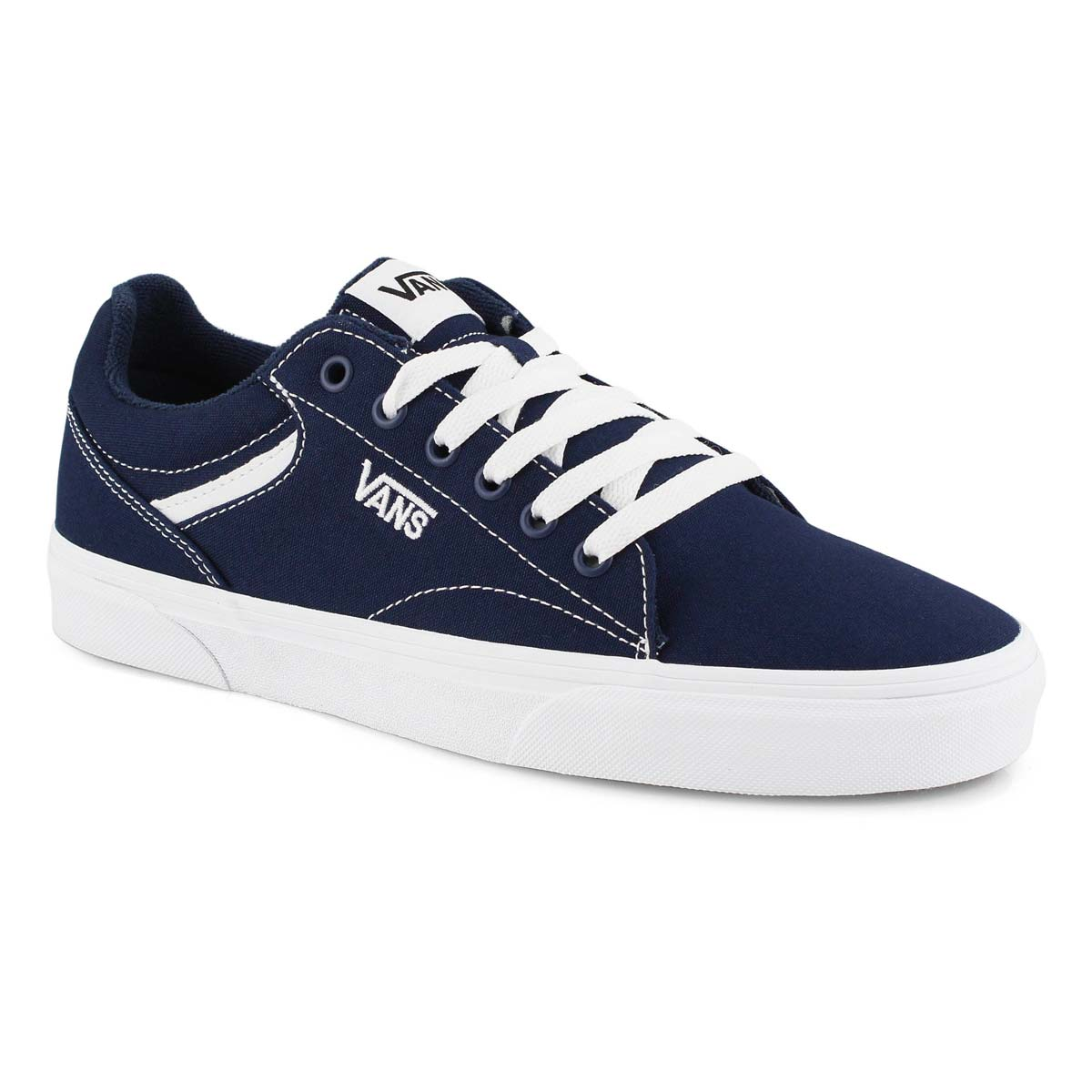 Vans Men's Seldan Canvas Shoes - Dress Blues/White