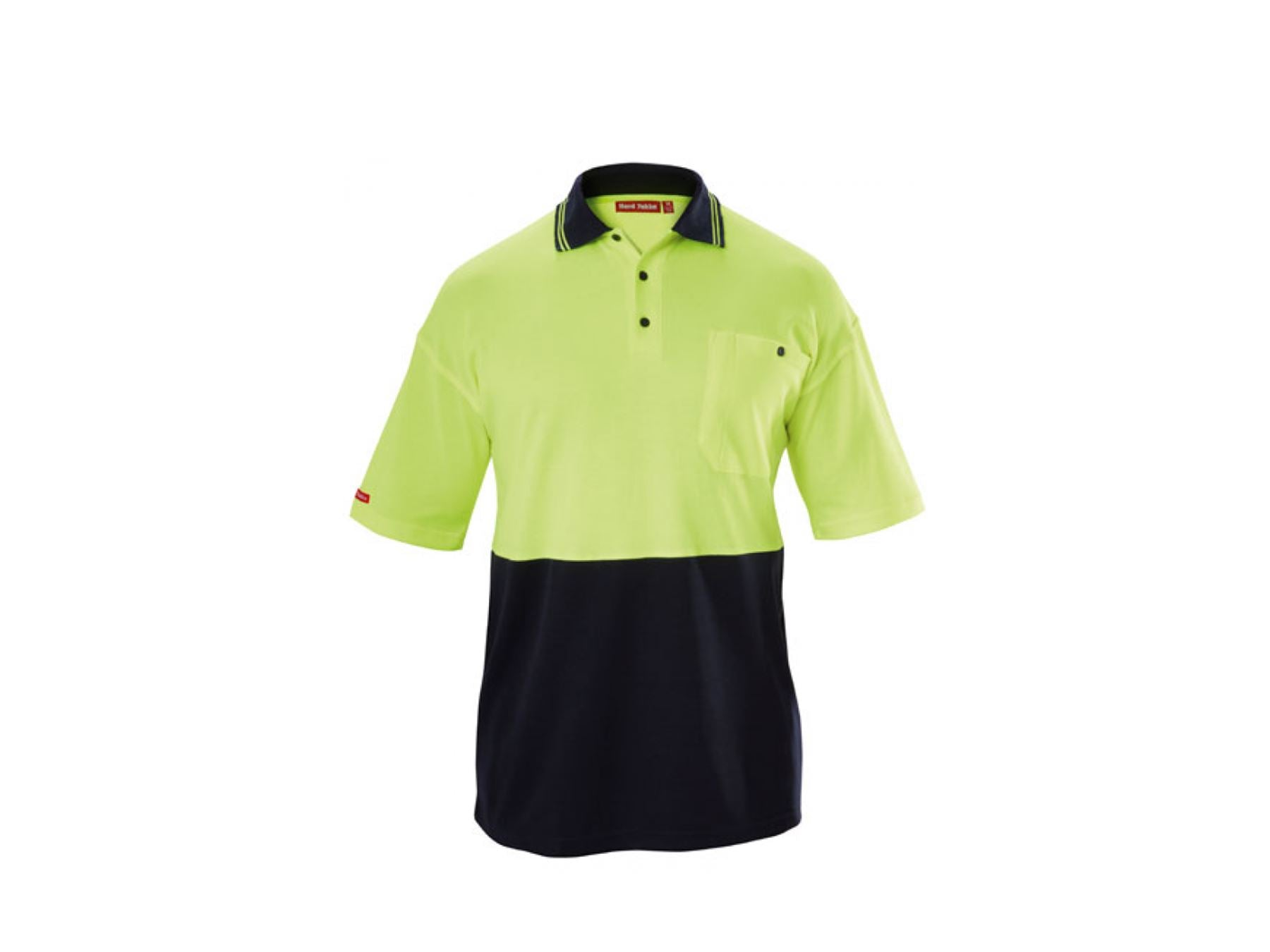 Hard Yakka Hi Vis Short Sleeve Shirt - Fluro Yellow/Navy Workwear Hard Yakka