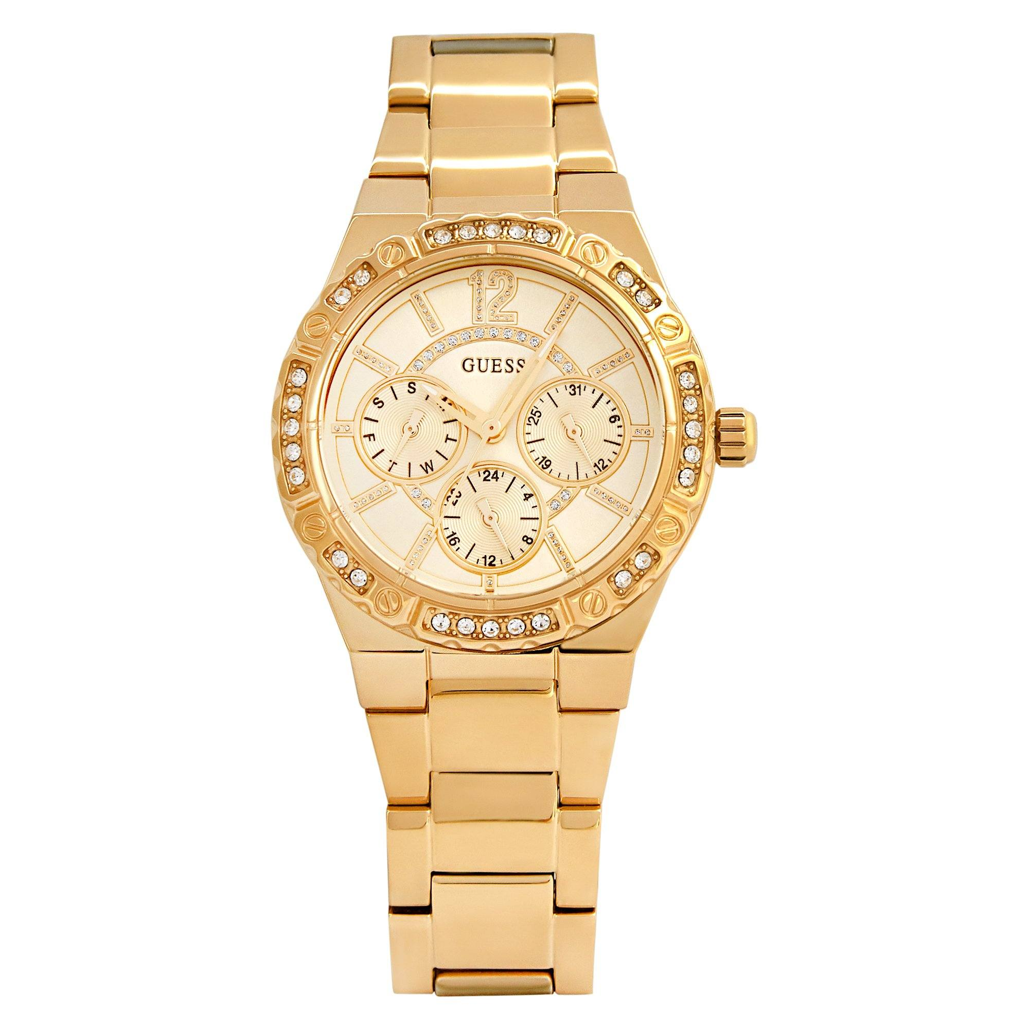 Guess Women's Envy Gold/Gold Bracelet Watch Watches Isbister & Co Wholesale