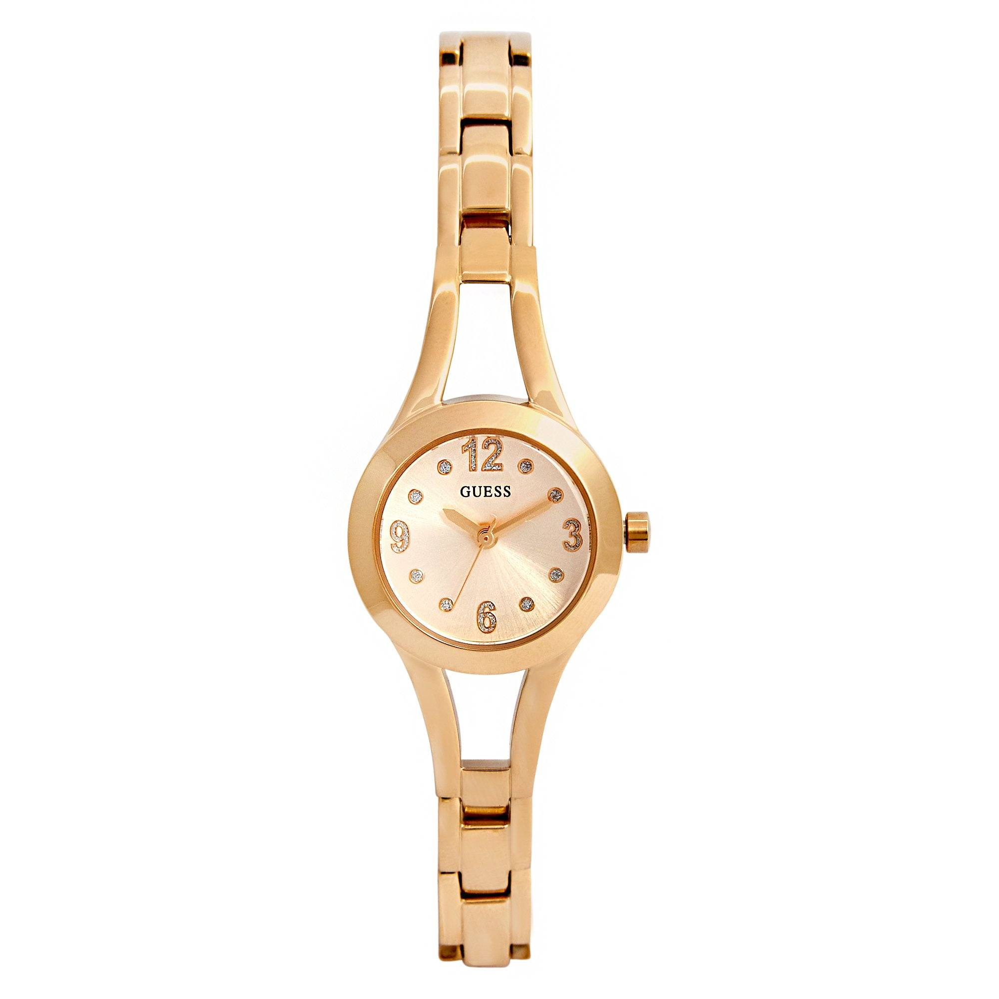 Guess Women's Evie Gold Gold Bracelet Watch Watches Isbister & Co Wholesale