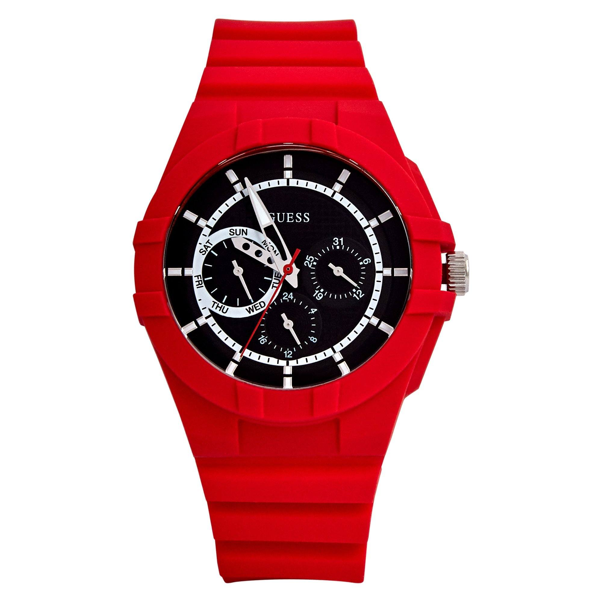 Guess Spinner Red Red Silc Watches Isbister & Co Wholesale