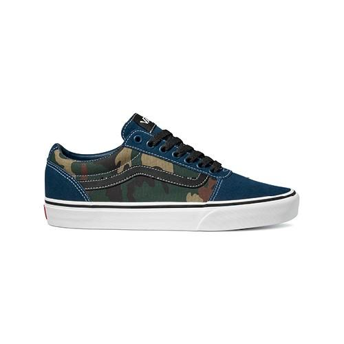 Vans Men's Ward Shoes Mixed Camo - Dress Blues/White