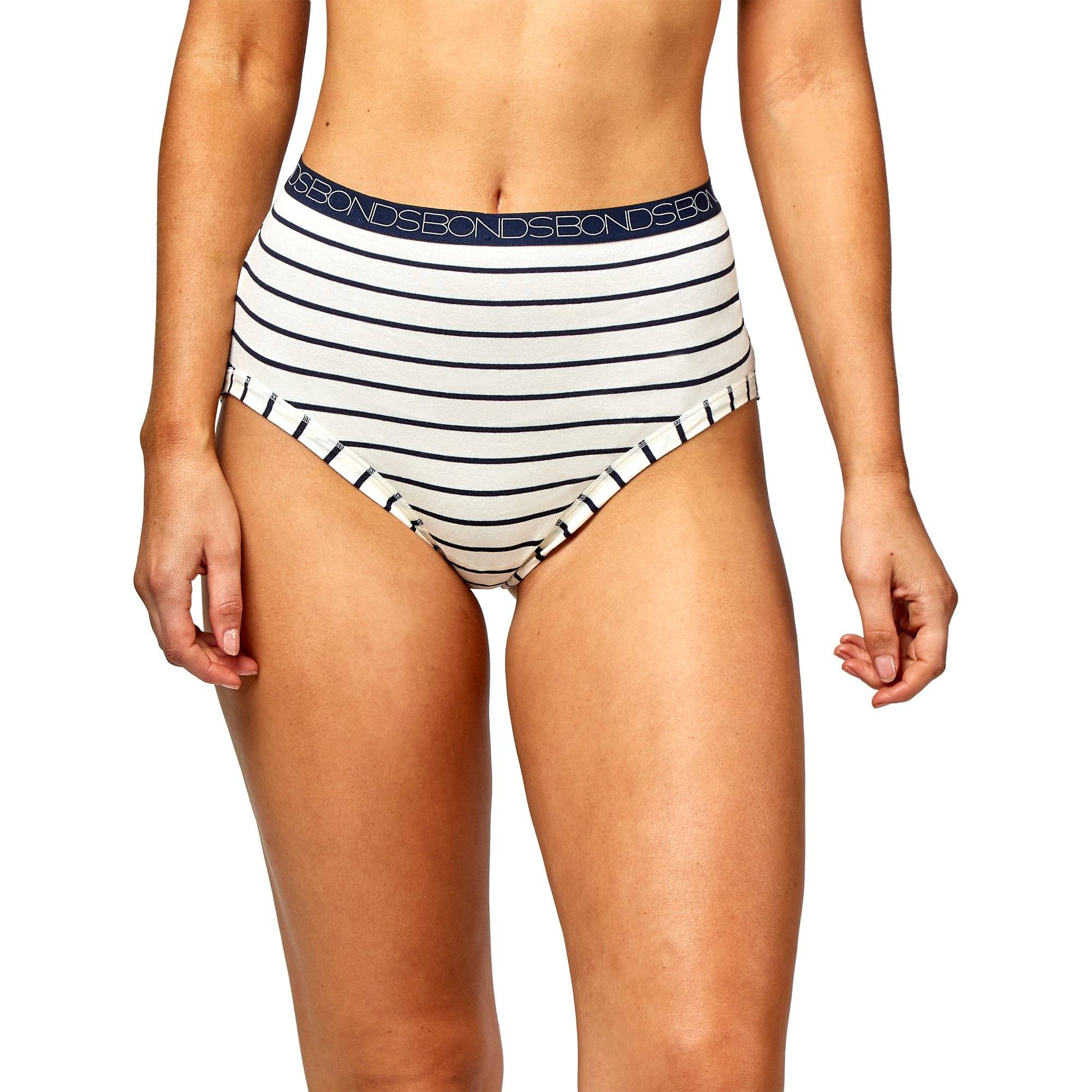 Bonds Women'S Underwear Cottontails Yds F/B - Stripe 22 Women's Underwear Bonds
