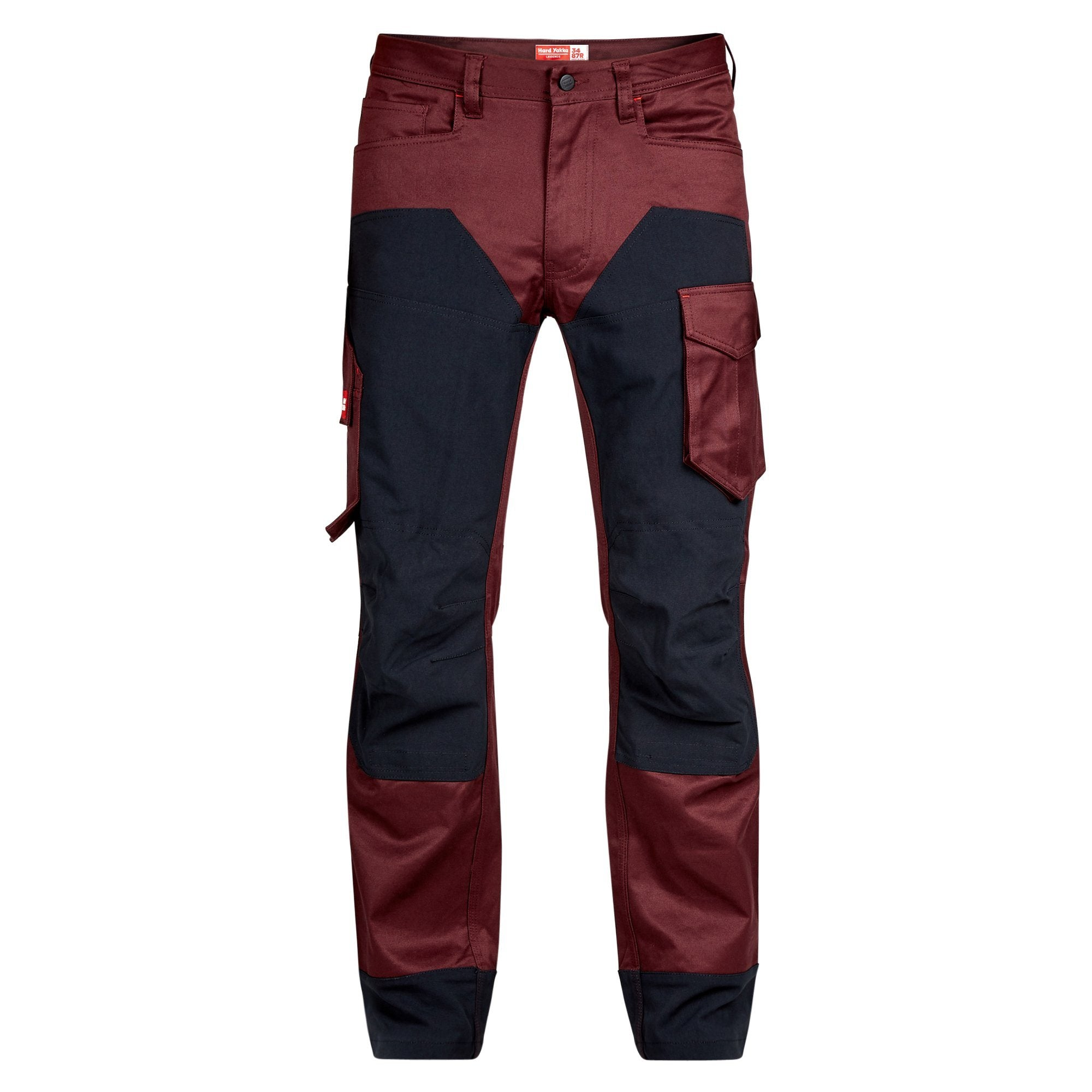 Hard Yakka Legends 3D Stretch Pants - Plum/Black Workwear Isbister & Co