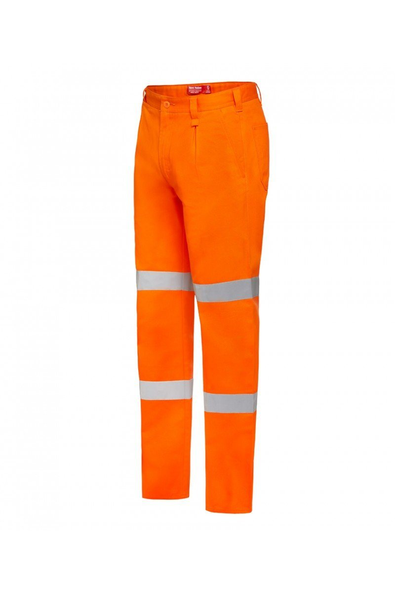 Hard Yakka Foundations Drill Pant with Double Hoop Tape - Orange Workwear Hard Yakka